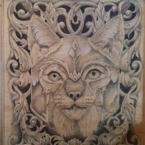lynx drawing by Jonah Osgood